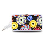 Colorful Retro Circular Pattern Portable Speaker (White)  Front