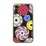 Colorful Retro Circular Pattern Apple iPhone 4 Case (Clear) Front