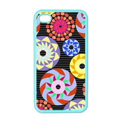 Colorful Retro Circular Pattern Apple iPhone 4 Case (Color)