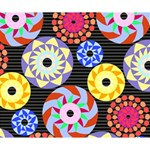 Colorful Retro Circular Pattern Deluxe Canvas 14  x 11  14  x 11  x 1.5  Stretched Canvas
