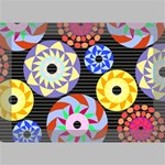 Colorful Retro Circular Pattern Deluxe Canvas 18  x 12   18  x 12  x 1.5  Stretched Canvas