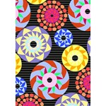 Colorful Retro Circular Pattern Peace Sign 3D Greeting Card (7x5) Inside