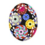 Colorful Retro Circular Pattern Ornament (Oval Filigree)  Front