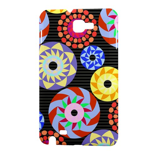 Colorful Retro Circular Pattern Samsung Galaxy Note 1 Hardshell Case