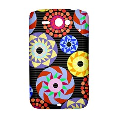 Colorful Retro Circular Pattern HTC ChaCha / HTC Status Hardshell Case