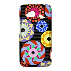 Colorful Retro Circular Pattern HTC Droid Incredible 4G LTE Hardshell Case