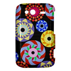 Colorful Retro Circular Pattern HTC Wildfire S A510e Hardshell Case