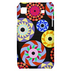 Colorful Retro Circular Pattern Samsung Galaxy S i9000 Hardshell Case