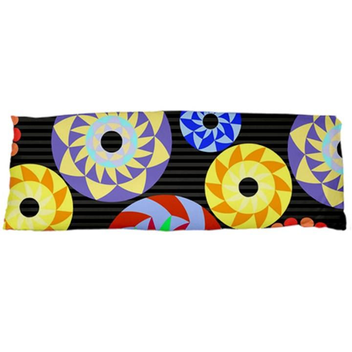 Colorful Retro Circular Pattern Body Pillow Case (Dakimakura)