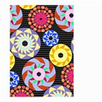 Colorful Retro Circular Pattern Small Garden Flag (Two Sides) Front