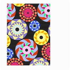 Colorful Retro Circular Pattern Large Garden Flag (two Sides)