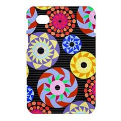 Colorful Retro Circular Pattern Samsung Galaxy Tab 7  P1000 Hardshell Case