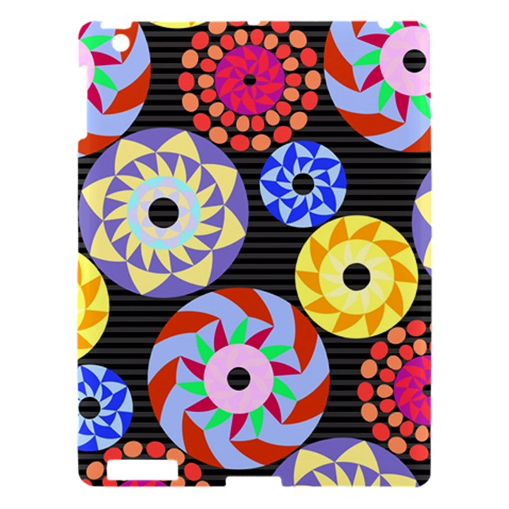 Colorful Retro Circular Pattern Apple iPad 3/4 Hardshell Case