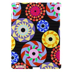 Colorful Retro Circular Pattern Apple Ipad 3/4 Hardshell Case (compatible With Smart Cover)