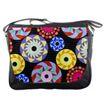 Colorful Retro Circular Pattern Messenger Bags Front