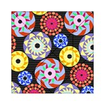 Colorful Retro Circular Pattern Acrylic Tangram Puzzle (6  x 6 ) Front