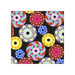 Colorful Retro Circular Pattern Acrylic Tangram Puzzle (4  x 4 ) Front