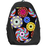 Colorful Retro Circular Pattern Backpack Bag Front