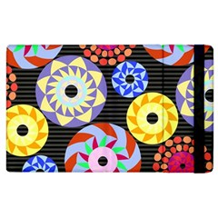 Colorful Retro Circular Pattern Apple iPad 3/4 Flip Case