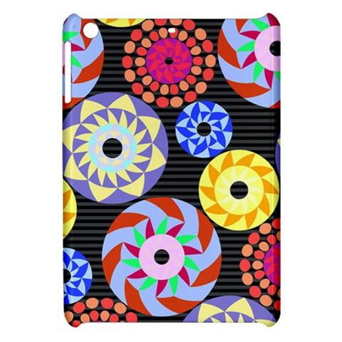 Colorful Retro Circular Pattern Apple iPad Mini Hardshell Case