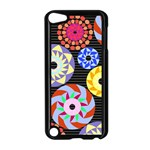 Colorful Retro Circular Pattern Apple iPod Touch 5 Case (Black) Front
