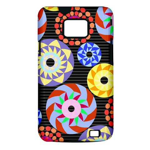 Colorful Retro Circular Pattern Samsung Galaxy S II i9100 Hardshell Case (PC+Silicone)