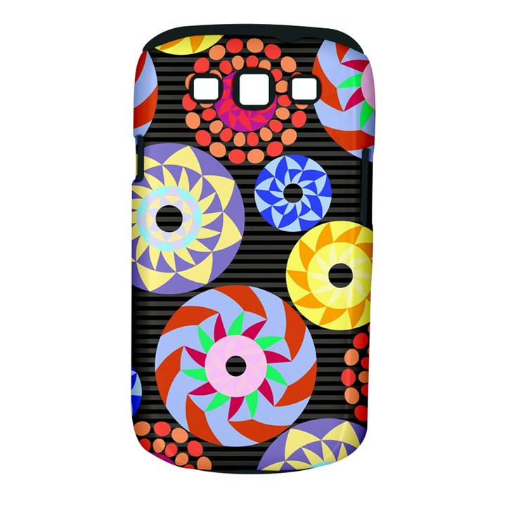 Colorful Retro Circular Pattern Samsung Galaxy S III Classic Hardshell Case (PC+Silicone)