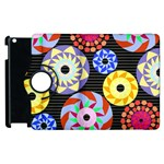 Colorful Retro Circular Pattern Apple iPad 2 Flip 360 Case Front