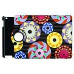 Colorful Retro Circular Pattern Apple iPad 3/4 Flip 360 Case Front