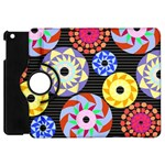 Colorful Retro Circular Pattern Apple iPad Mini Flip 360 Case Front