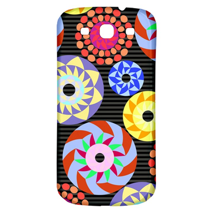 Colorful Retro Circular Pattern Samsung Galaxy S3 S III Classic Hardshell Back Case