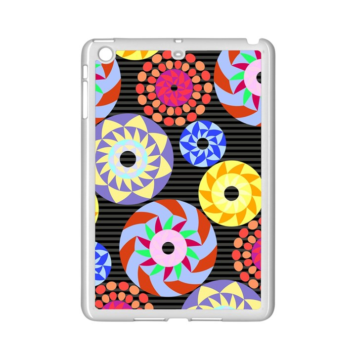 Colorful Retro Circular Pattern iPad Mini 2 Enamel Coated Cases