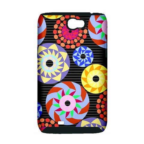 Colorful Retro Circular Pattern Samsung Galaxy Note 2 Hardshell Case (PC+Silicone)