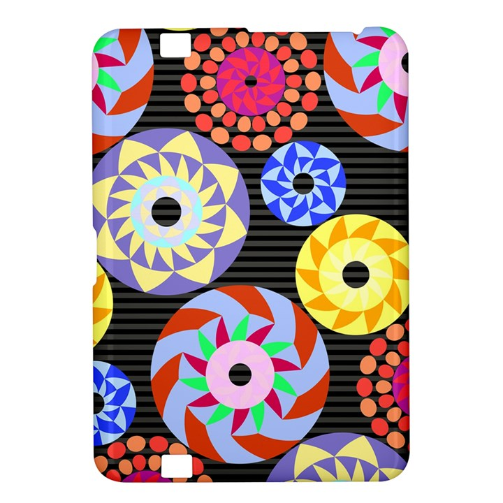 Colorful Retro Circular Pattern Kindle Fire HD 8.9