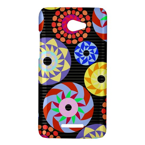 Colorful Retro Circular Pattern HTC Butterfly X920E Hardshell Case