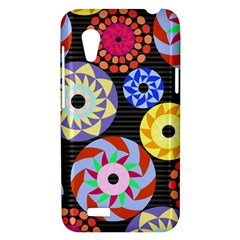 Colorful Retro Circular Pattern HTC Desire VT (T328T) Hardshell Case