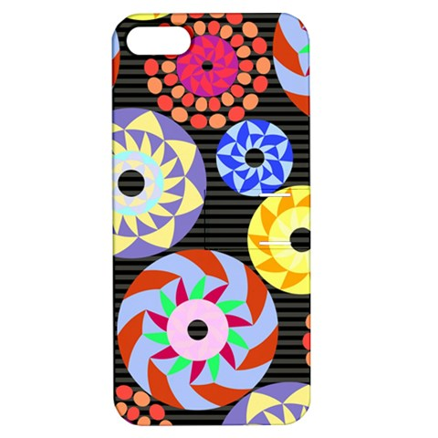 Colorful Retro Circular Pattern Apple iPhone 5 Hardshell Case with Stand