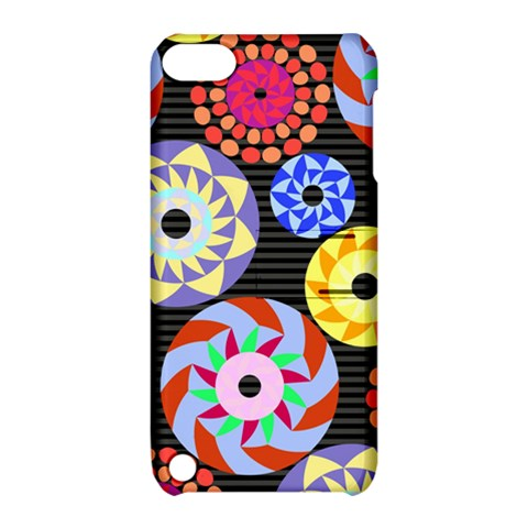 Colorful Retro Circular Pattern Apple iPod Touch 5 Hardshell Case with Stand