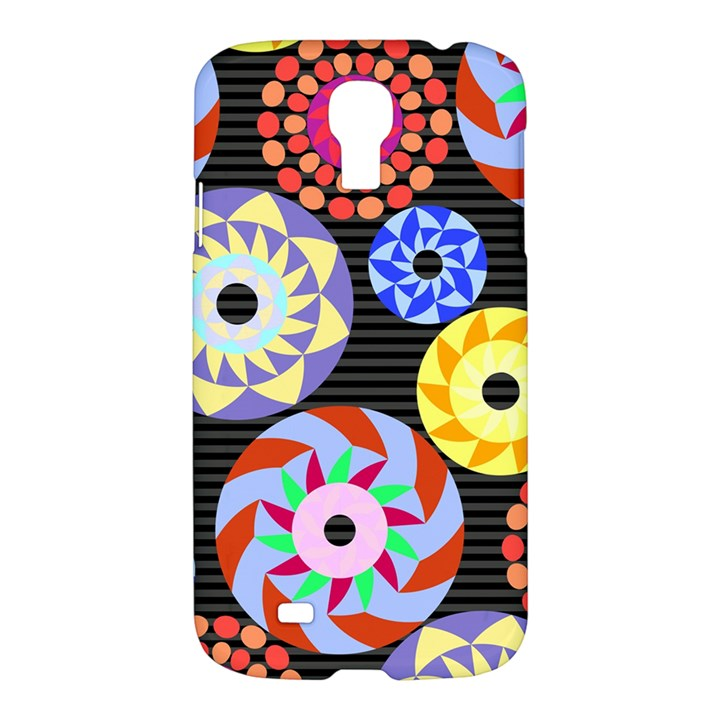 Colorful Retro Circular Pattern Samsung Galaxy S4 I9500/I9505 Hardshell Case