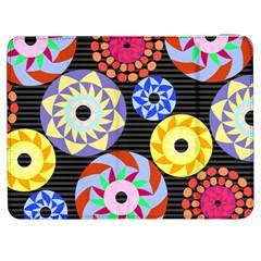 Colorful Retro Circular Pattern Samsung Galaxy Tab 7  P1000 Flip Case