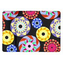 Colorful Retro Circular Pattern Samsung Galaxy Tab 10.1  P7500 Flip Case