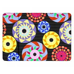 Colorful Retro Circular Pattern Samsung Galaxy Tab 8.9  P7300 Flip Case