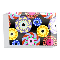 Colorful Retro Circular Pattern 4 x 6  Acrylic Photo Blocks