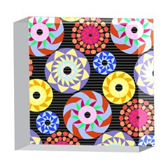 Colorful Retro Circular Pattern 5  x 5  Acrylic Photo Blocks
