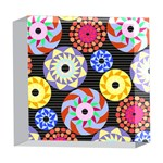 Colorful Retro Circular Pattern 5  x 5  Acrylic Photo Blocks Front