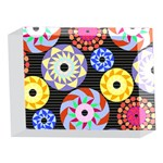 Colorful Retro Circular Pattern 5 x 7  Acrylic Photo Blocks Front
