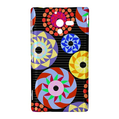 Colorful Retro Circular Pattern Sony Xperia ZL (L35H)