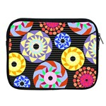 Colorful Retro Circular Pattern Apple iPad 2/3/4 Zipper Cases Front