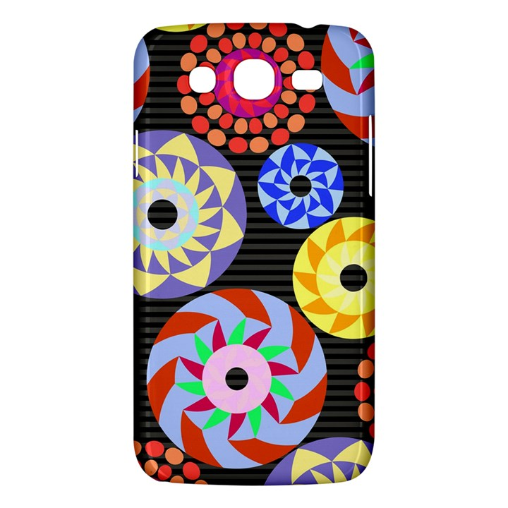 Colorful Retro Circular Pattern Samsung Galaxy Mega 5.8 I9152 Hardshell Case