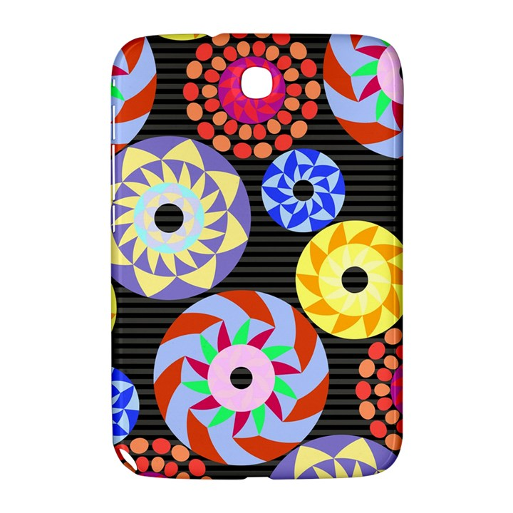 Colorful Retro Circular Pattern Samsung Galaxy Note 8.0 N5100 Hardshell Case